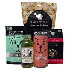Dog Treat Gift Box with Pawsecco, Treats & Popcorn