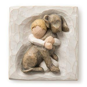 Willow Tree Hug Plaque by Susan Lordi, Light Brown