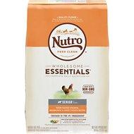 Nutro Wholesome Essentials Senior Farm Raised Chicken, Brown Rice & Sweet Potato Recipe Dry Dog Food