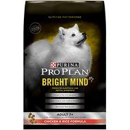 Purina Pro Plan Bright Mind Adult 7+ Chicken & Rice Formula Dry Dog Food