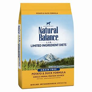 Natural Balance L.I.D. Limited Ingredient Diets Potato & Duck Formula Grain-Free Dry Dog Food: