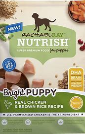 Rachael Ray Nutrish Bright Puppy Natural Real Chicken & Brown Rice Recipe Dry Dog Food: