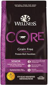 Wellness CORE Grain-Free Senior Deboned Turkey Recipe Dry Dog Food