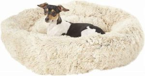 Best Gifts For Dog Lovers- Best Friends by Sheri Luxury Shag Self-Heating Orthopedic Bolster Cat & Dog Bed