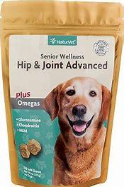 NaturVet Senior Care Hip & Joint Advanced Formula Dog Soft Chews: