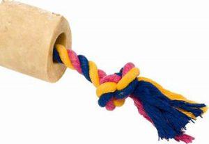 chew toys - USA Bones & Chews Cotton Rope with Bones Dog Toy: