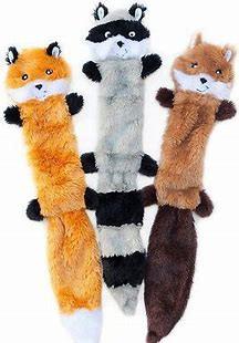 Best Dog Toys - ZippyPaws Skinny Peltz Plush Dog Toys, 3-pack, Large